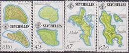 Seychelles - Map Set MNH - Geografia