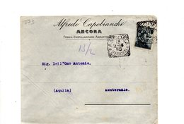 LAB673 - ITALIA 1913 Lettera Intestata Capobianchi - Ancona - 1900-44 Vittorio Emanuele III