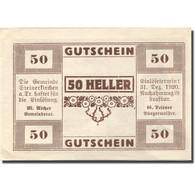 Billet, Autriche, Steinerkirchen, 50 Heller, Eglise, 1920 SPL Mehl:FS 1029I - Austria