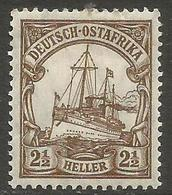 German East Africa - 1906 Kaiser's Yacht 2.5h Mint Hinged *  Sc 31 - Colony: German East Africa