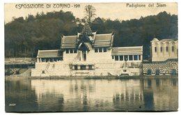 RC 12669 ITALIA EXPOSIZIONE DI TORINO 1911 PADIGLIONE DEL SIAM THAILAND PHOTO POSTCARD - Exhibitions