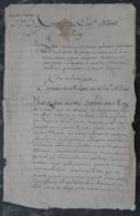 Manuscrit De 1728.Belle Calligraphie.Arrest Du Conseil D'Etat Du Roy.Bois Eaux & Forets.Versailles - Manuscrits