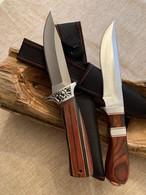 Lot De 2 Couteaux Lame Fixe Acier 440 Avec étuis ( Promo ) - Knives/Swords
