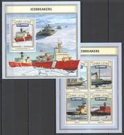 ST453 2016 SIERRA LEONE SHIPS & BOATS ICEBREAKERS KB+BL MNH - Polar Ships & Icebreakers