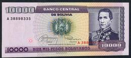 BOLIVIA P195  1 CENTAVO/10.000 P.B.   1987  UNC. - Bolivia