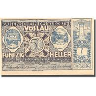 Billet, Autriche, Vöslau, 50 Heller, Blason 1920-12-31 SPL Mehl:FS 1121IIa - Austria