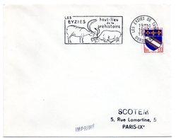 DORDOGNE - Dépt N° 24 = LES EYZIES De TAYAC 1963 = FLAMME SUPERBE = SECAP Illustrée 'Haut-lieu De PREHISTOIRE' - Préhistoire