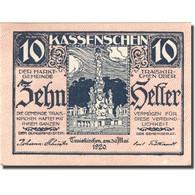 Billet, Autriche, Traiskirchen, 10 Heller, Monument, 1921 SPL Mehl:FS 1077a - Austria