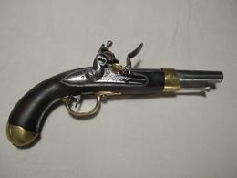 Pistolet De Cavalerie Ou D'arçon à Silex An XIII Ou An 13 Maubeuge - Militaria