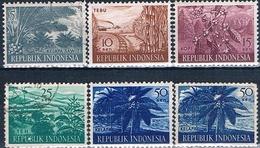 Indonesia 1953 / 60  -  Michel  105 / 106 + 108 / 109 + 270 / 271 + 274  ( Nuevos )  ( ** ) - Indonesia