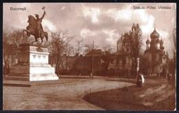 VINTAGE OLD PHOTO CARD * BUCURESTI STATUIA MIHAI VITEAZU * - Roumanie