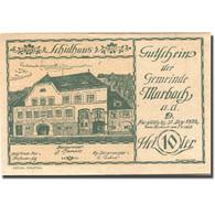 Billet, Autriche, Marbach An Der Donau, 10 Heller, école, 1920 SUP Mehl:FS 579I - Austria