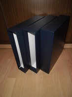 SAFE 3x Schutzkassette 489 Für Compact A4 Ringbinder Classic Dunkelblau Kassette - Alben Leer