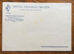 FASCISMO  FASCIO COMBATTIMENTO DI S.GIOVANNI IN PERSICETO  CARTOLINA NUOVA - Historische Dokumente