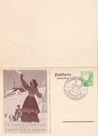 ALLEMAGNE 1938 ENTIER  POSTAL/GANZSACHE/POSTAL STATIONERY CARTEAVEC REPONSE ILLUSTREE - Ganzsachen