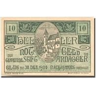 Billet, Autriche, Stift Ardagger, 10 Heller, Eglise 1920-12-30 SPL Mehl:FS 51Ac - Austria