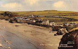"""M08116 """"BROADHAVEN-THE VILLAGE AND SANDS""""   CART. POST. ORIG. SPEDITA 1962 - Pembrokeshire"""