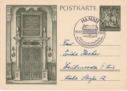 ALLEMAGNE 1943 ENTIER  POSTAL/GANZSACHE/POSTAL STATIONERY CARTE  ILLUSTREE DE HANAU - Ganzsachen