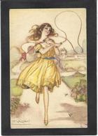 CPA Mauzan Femme Girl Woman érotisme Glamour Fantaisie écrite N° 246-6 - Mauzan, L.A.