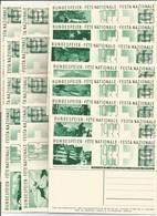 Schweiz Switzerland Suisse SBK 57a/57q Complete Set Ganzachen Postal Stationeries EP 1933 Entwertet Annulé - Ganzsachen