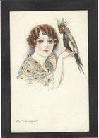 CPA Mauzan Femme Girl Woman érotisme Glamour Fantaisie écrite N° 42-6 Perroquet - Mauzan, L.A.