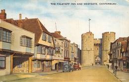 "M08117 ""CANTERBURY-THE FALSTAFF INN AND WESTGATE"" ANIMATA-AUTO ANNI '40  CART. POST. ORIG. SPEDITA 1962 - Canterbury"