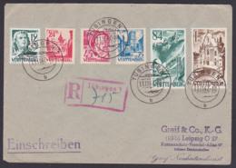 Württemberg Französische Zone R-Brief Tübingen 11.11.47, Barockkirche Zwiefalten, Friedrich Schiller Hölderlin - Französische Zone