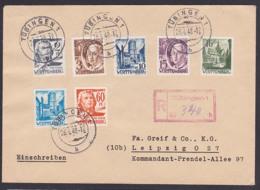 Württemberg Französische Zone R-Brief Tübingen 26.4.48,Stadttor Wangen, Friedrich Schiller Hölderlin Kloster Bebenhausen - Französische Zone