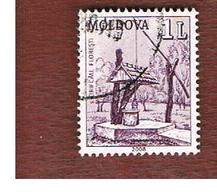 MOLDAVIA (MOLDOVA)   -  MI 606   -   2008   WATER PITS   -   USED - Moldavia