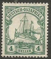 German East Africa - 1906 Kaiser's Yacht 4h Fine Used  Sc 32 - Colony: German East Africa