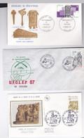 LOISIRS  : 1 FDC FR / MAISON DE LA CHASSE(1981) + 1FDC COTE-IVOIRE/ MUSIQUE(1977) + 1 ENVELOPPE /FR CRITERIUM TIR(1987) - Stamps