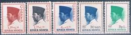 Indonesia 1965  -  Michel  474 + 475 + 478 + 508 + 528   ( Nuevos )  ( ** ) - Indonesia