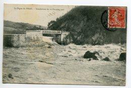 42 PINAY La Digue Pendant Inondations Du 10 Octobre 1907 écrite Timbrée    D08 2019 - France