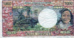 TAHITI-PAPEETE Billet 1000 Francs-1985- EN T T B Signature Billecart & Waitzeneg - Haiti
