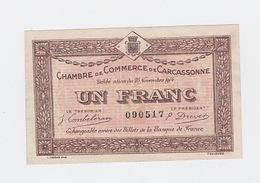Billet Chambre De Commerce De Carcassonne 23 Nov. 1914  Pick 6 - Chambre De Commerce