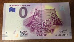 14 MÉMORIAL DE CAEN BILLET 0 EURO SOUVENIR 2019 BANKNOTE BANK NOTE 0 EURO SCHEIN PAPER MONEY - Autres