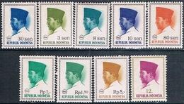 Indonesia 1966  -  Michel  426 + 508 + 517 + 519 / 20 + 527 / 29 + 533   ( Nuevos )  ( ** ) - Indonesia