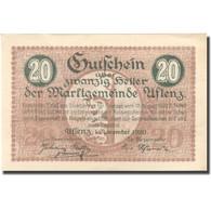 Billet, Autriche, Aflenz, 20 Heller, Village, 1920, 1920-11-01, SPL, Mehl:FS 7a - Austria