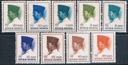 Indonesia 1966  -  Michel  507 / 08 + 516 / 17 + 519 / 20 + 523 + 525 + 527   ( Nuevos )  ( ** ) - Indonesia