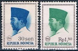 Indonesia 1966  -  Michel  508 + 528   ( Nuevos )  ( ** ) - Indonesia