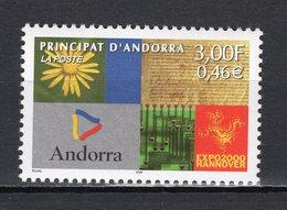 ANDORRA (FRENCH) - 2000 HANNOVER WORLD'S FAIR  M1167 - 2000 – Hannover (Germania)