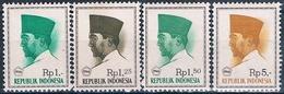 Indonesia 1966  -  Michel  528 + 529 + 530 + 533   ( Nuevos )  ( ** ) - Indonesia