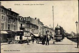 Cp Épinal Lothringen Vosges, Promenade, Quai Des Bons Enfants, Straßenbahn 8 - Altri Comuni
