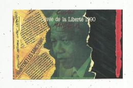 Autocollant , Politique, MANDELA ,cuvée De La Liberté 1990 ,  Maintenez Les Sanctions - Autocollants
