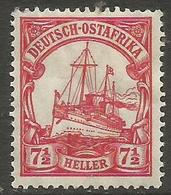 German East Africa - 1906 Kaiser's Yacht 7.5h Mint Hinged *  Sc 33 - Colony: German East Africa