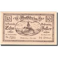 Billet, Autriche, Grossraming, 10 Heller, Eglise 1920-05-01, SPL Mehl:FS 296 - Austria