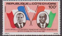 Costa D'Avorio / Ivory Coast / Code D'ivoire - Flags Mitterrand President Set MNH - Francobolli