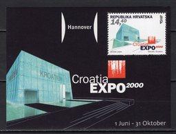 CROATIA - 2000 HANNOVER WORLD'S FAIR  M1170 - 2000 – Hanover (Germany)