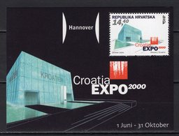 CROATIA - 2000 HANNOVER WORLD'S FAIR  M1170 - 2000 – Hanovre (Allemagne)