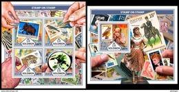 SOLOMON Isl. 2017 - Stamps On Stamps - YT 3829-32 + BF699; CV=38 € - Solomon Islands (1978-...)